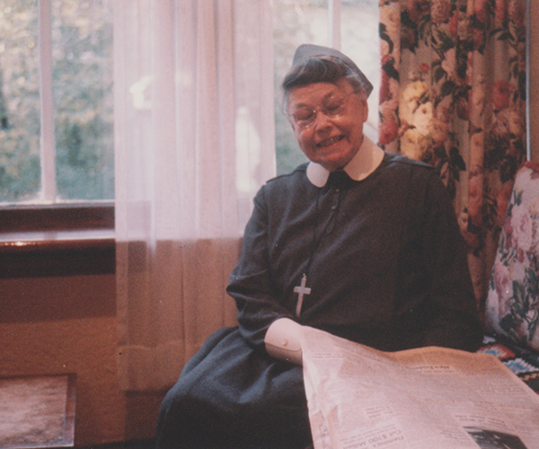 Sister Catherine Donnelly at Camp Morton in the 1960s