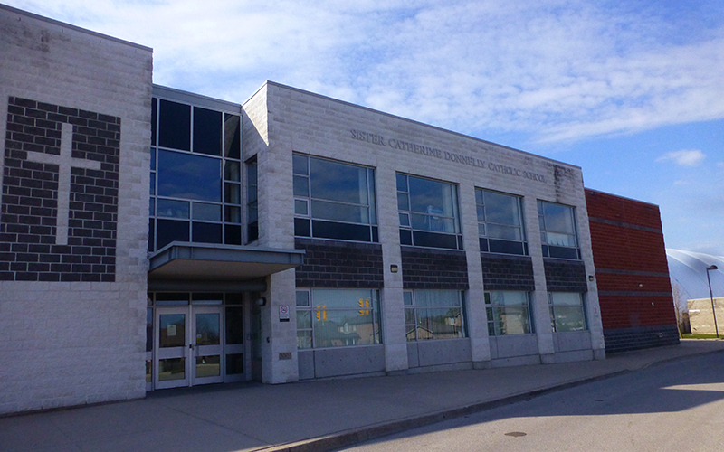 Exterior of Sister Catherine Donnelly Catholic School