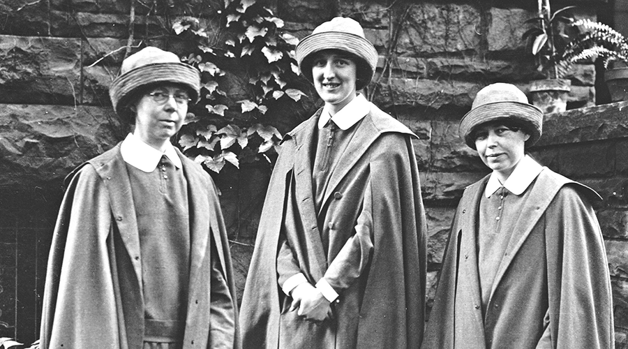 Sisters Catherine Wymbs, Margaret Guest and Catherine Donnelly