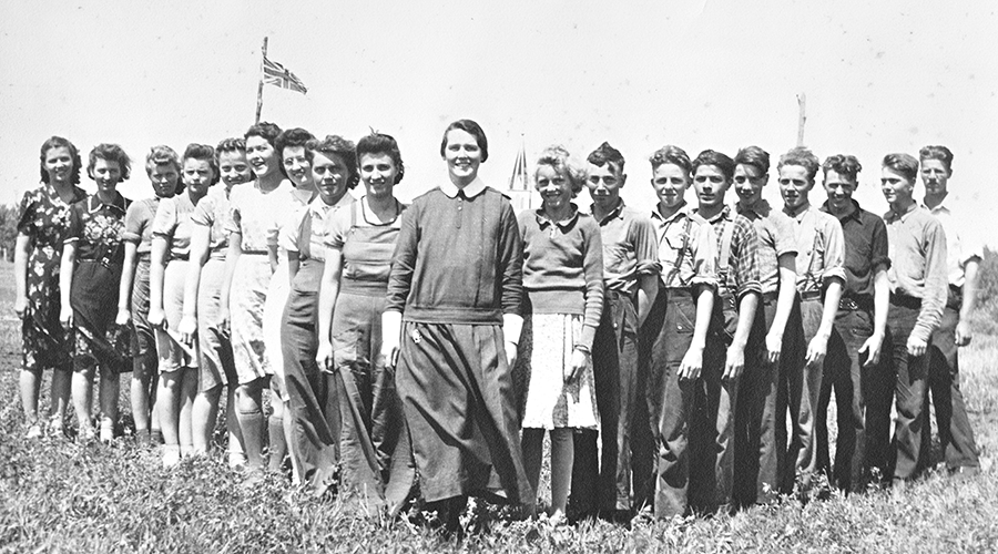 Sister Irene Faye with students