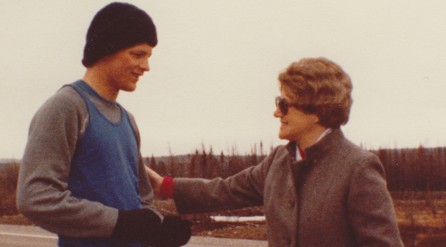 Sister Mossey and Terry Fox