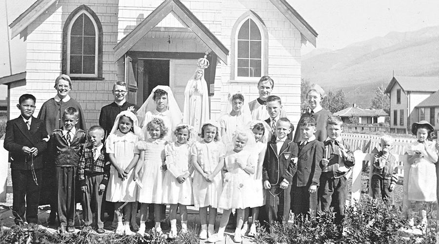 First Communion class in McBride, BC